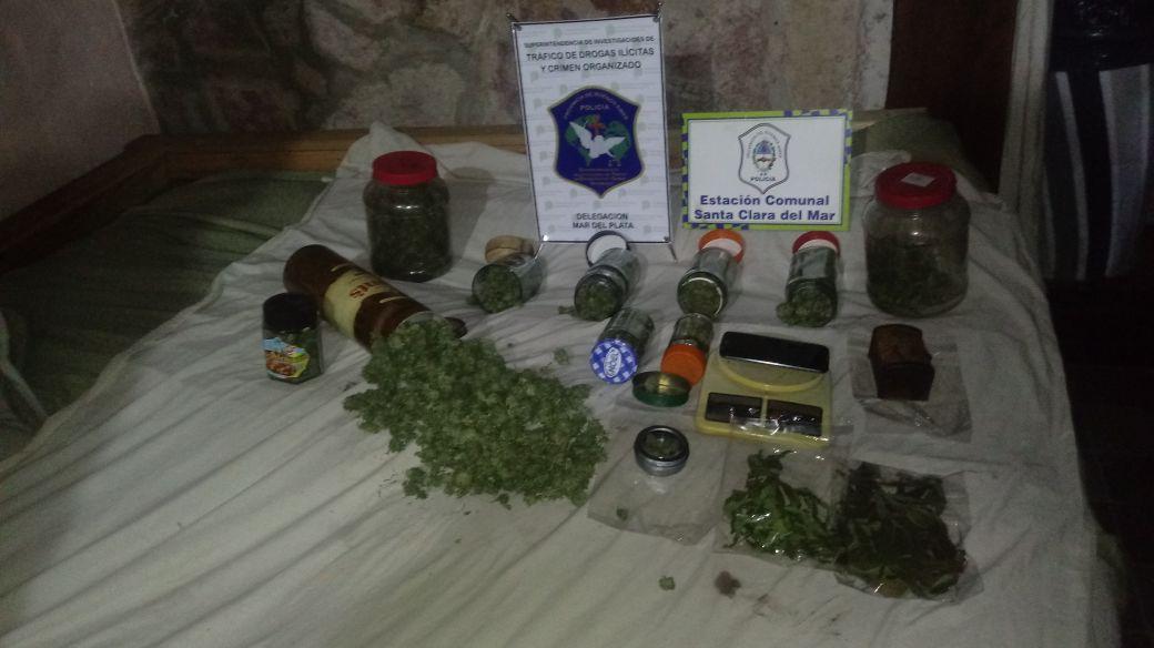 STA CLARA: Dos detenidos tras allanamientos por venta de estupefacientes, secuestraron más de dos kg de Cannabis