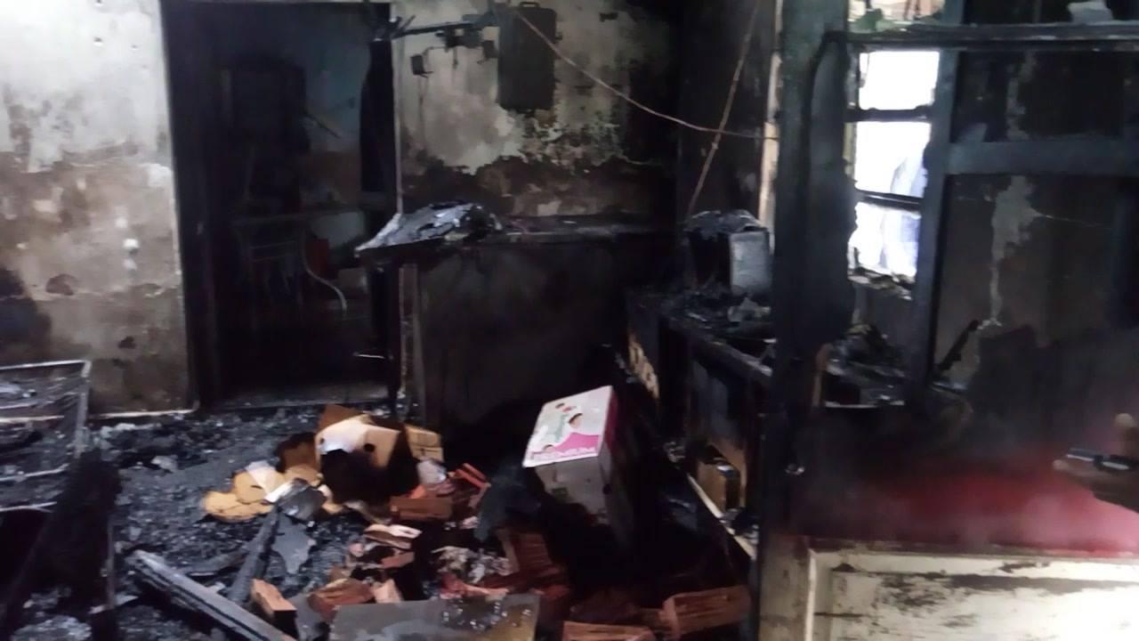 Cnel. Vidal: Se incendió una vivienda sobre Ruta 55