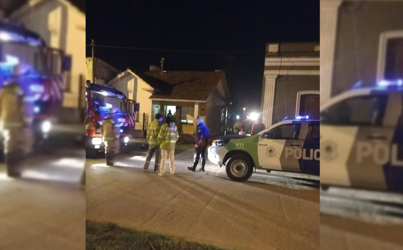 GRAL PIRAN: Una chimenea agarró fuego y debieron intervenir los bomberos