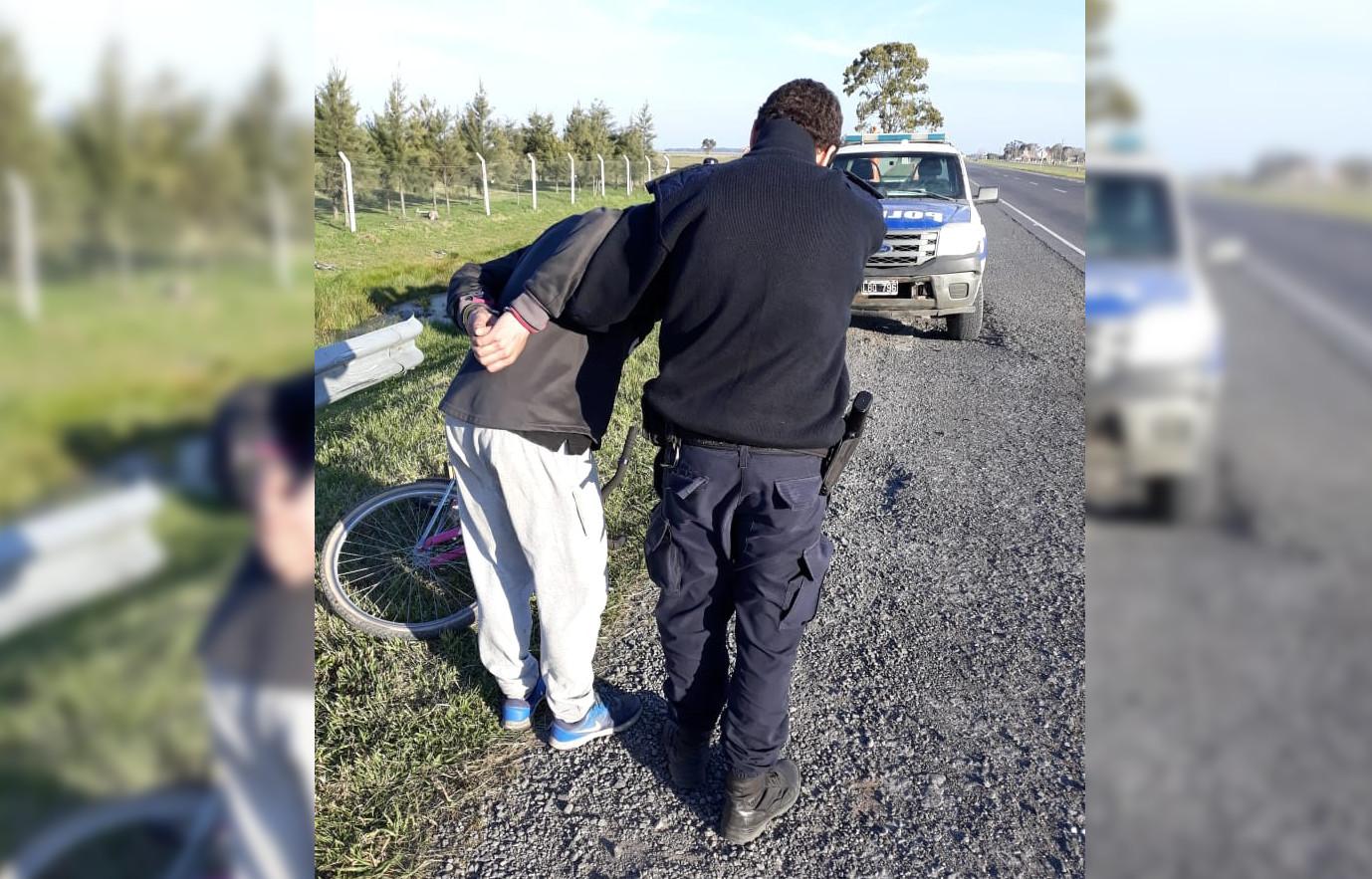 VIVORATÁ: Le robaron una bicicleta al delegado Moreno y agarraron al ladron en la ruta 2