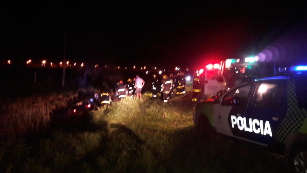 CNEL VIDAL: Volcó un auto en la denominada «curva de la muerte» en ruta 55