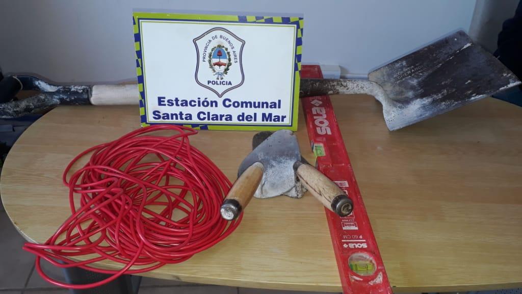 Allanamiento positivo en Santa Clara por el robo de herramientas en una obra en construcción