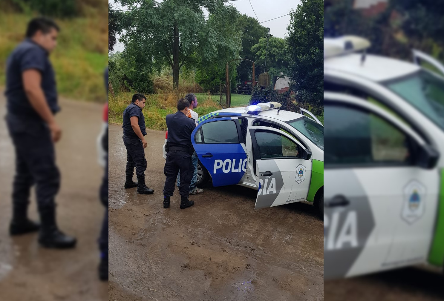 CNEL VIDAL: Detienen a un sujeto que ingresó violentamente a su vivienda y amenazó a su mujer e hijos