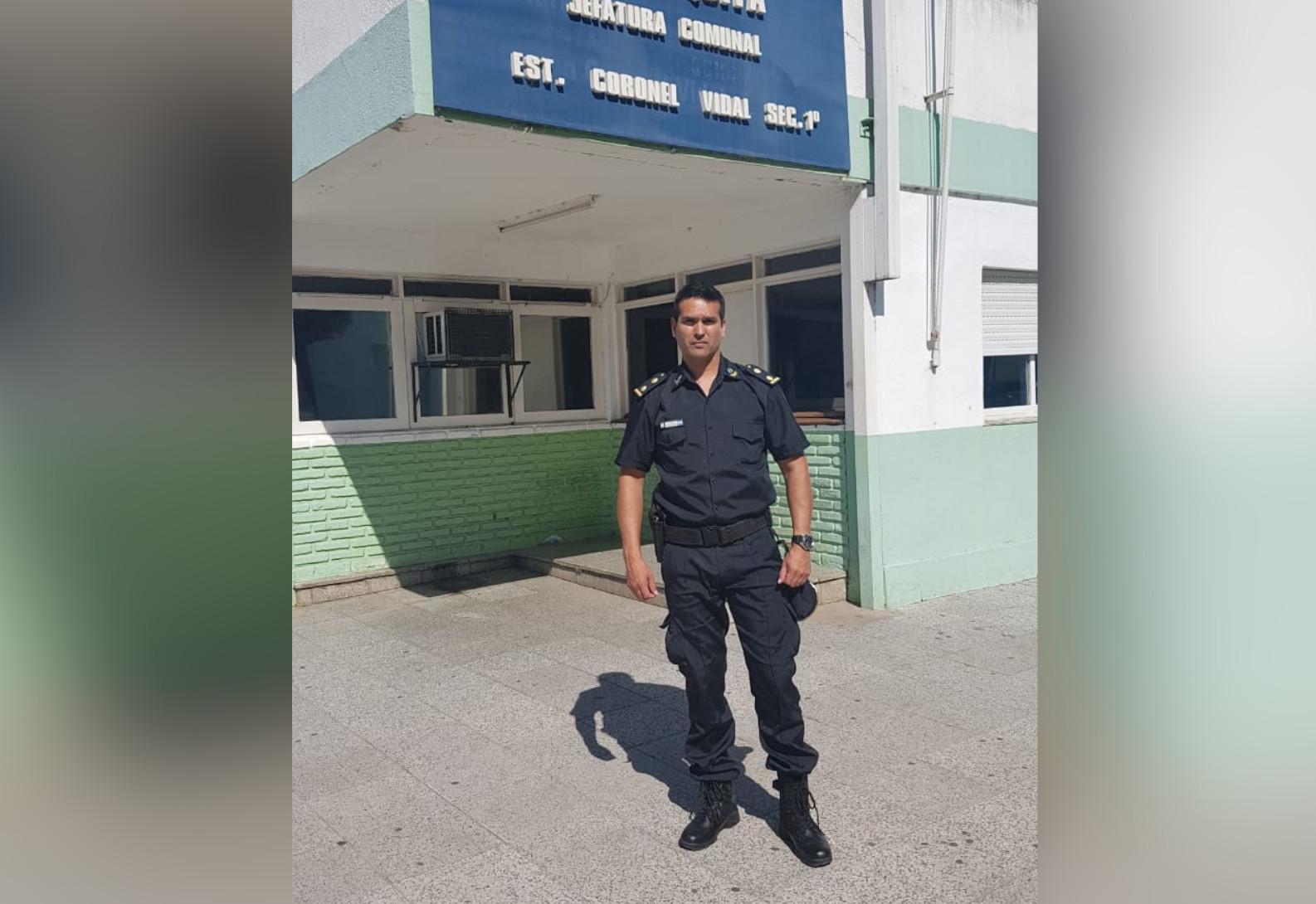 El Comisario Ariel Contrera fue designado como nuevo Jefe de Estación en la Comisaría 1ra de Coronel Vidal