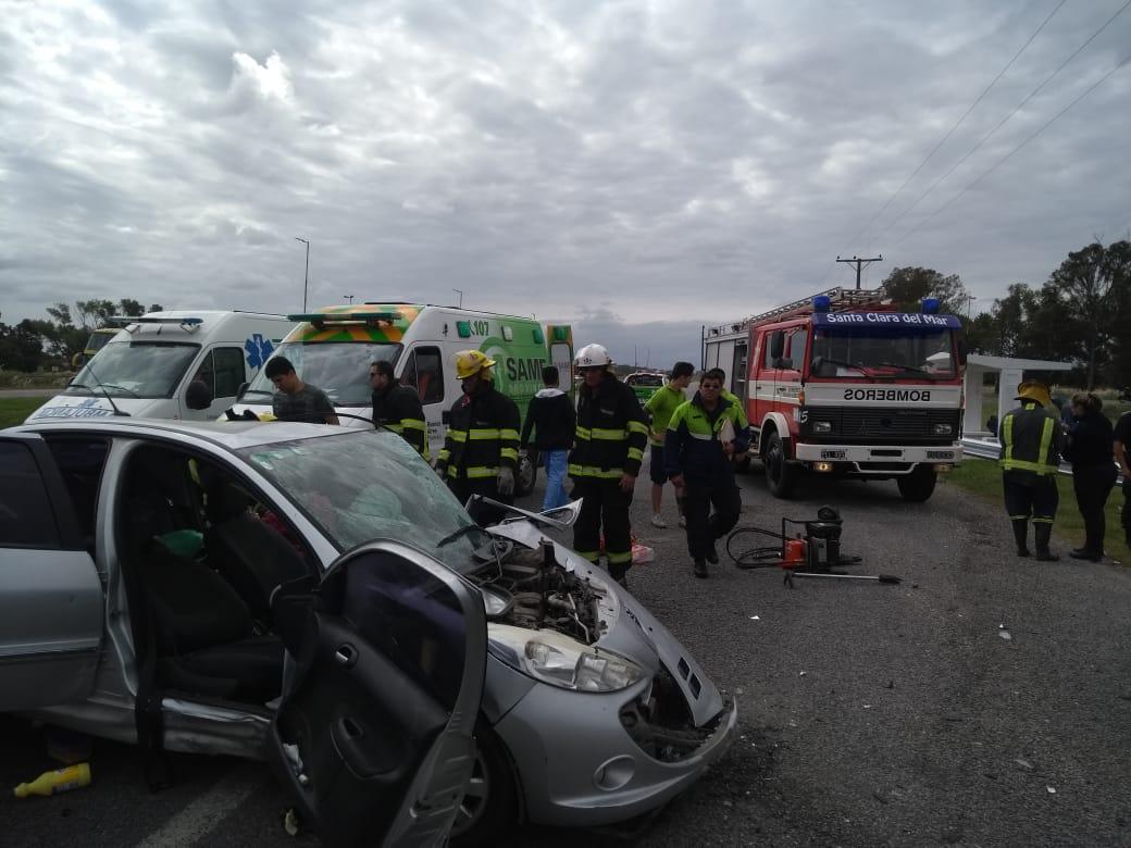 7 heridos tras un choque múltiple en el km 386 de la Autovía 2