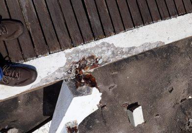 Vandalismo en la rambla de Balneario Parque Mar Chiquita