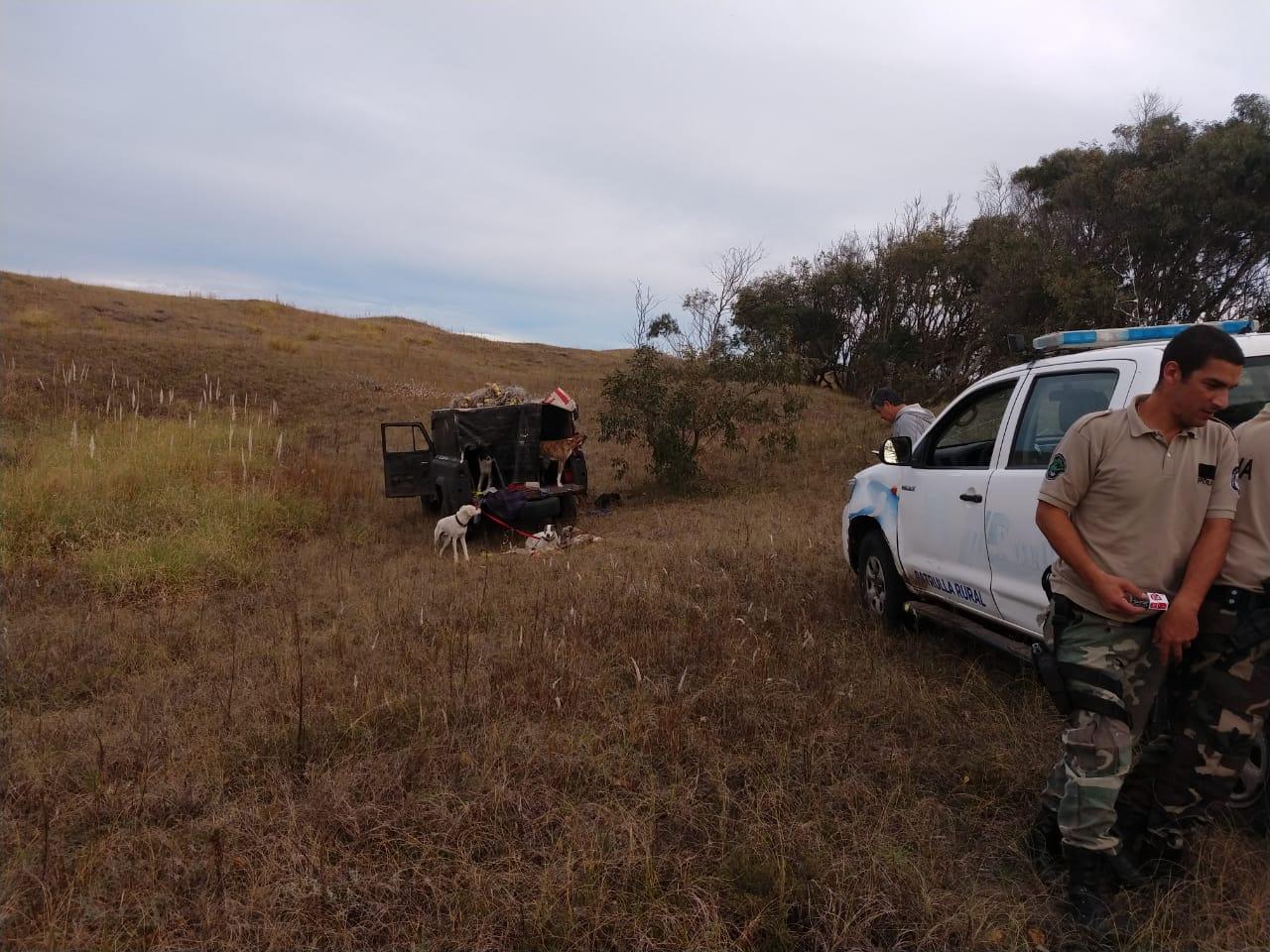 RESERVA NATURAL: Seis horas de persecución y tres cazadores furtivos demorados