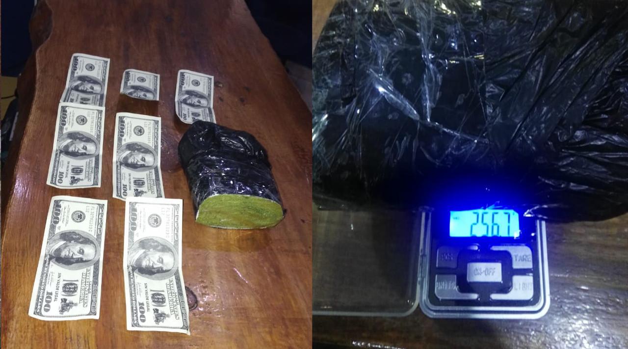 STA CLARA: Dos sujetos demorados con hojas de coca, 700 dólares falsos y ningún documento del rodado en que viajaban