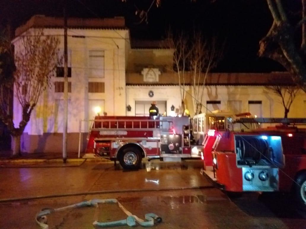 Se incendió un sector de la Escuela N° 1 de Coronel Vidal
