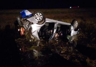 Tres marplatenses heridos tras volcar entre Coronel Vidal y Vivoratá