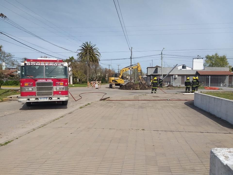 Fuga de gas con intervención de Bomberos en Coronel Vidal