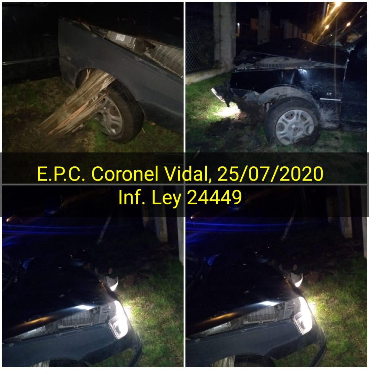 CNEL VIDAL: Manejaba con licencia vencida hace más de un año, sin seguro y chocó contra un poste de energía eléctrica