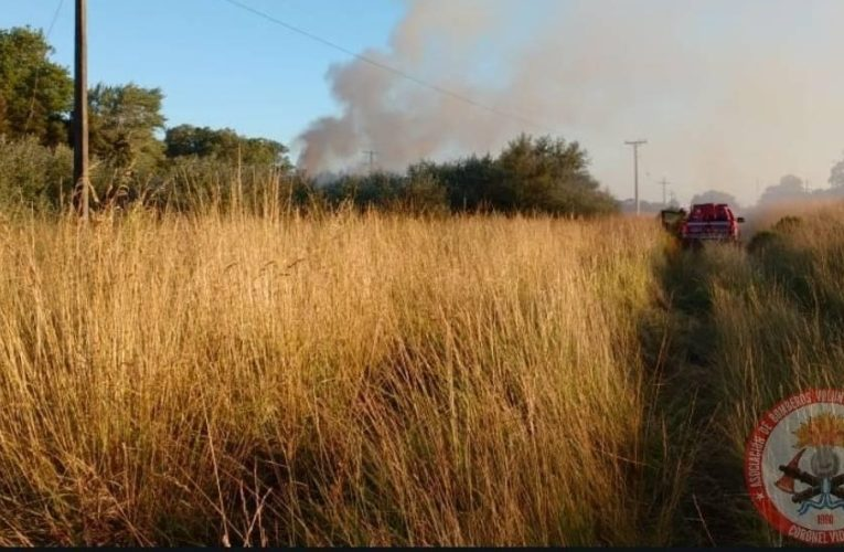 Bomberos de Vivoratá y Cnel. Vidal combatieron un incendio pastizales por más de cuatro horas