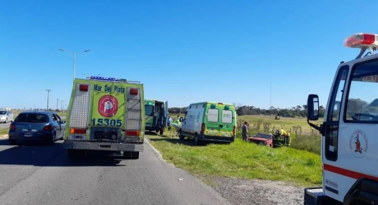 Otro accidente en el tramo de la rp 11 que Santa Clara con Mar del Plata