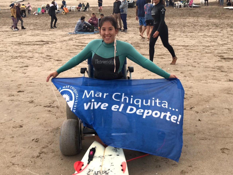 Georgina Melatini subcampeona en la 1ra. fecha del Circuito Argentino de Surf Adaptado