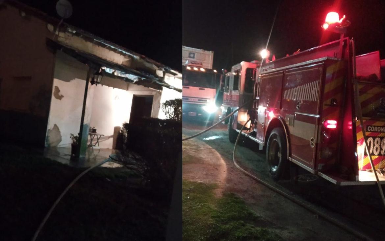 CNEL VIDAL: Se incendió una vivienda a la medianoche de este domingo