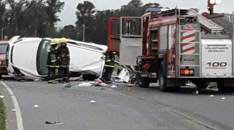 RAUCH: Cuatro muertos, tres de ellos oriundos de Tandil, en un accidente en ruta 30
