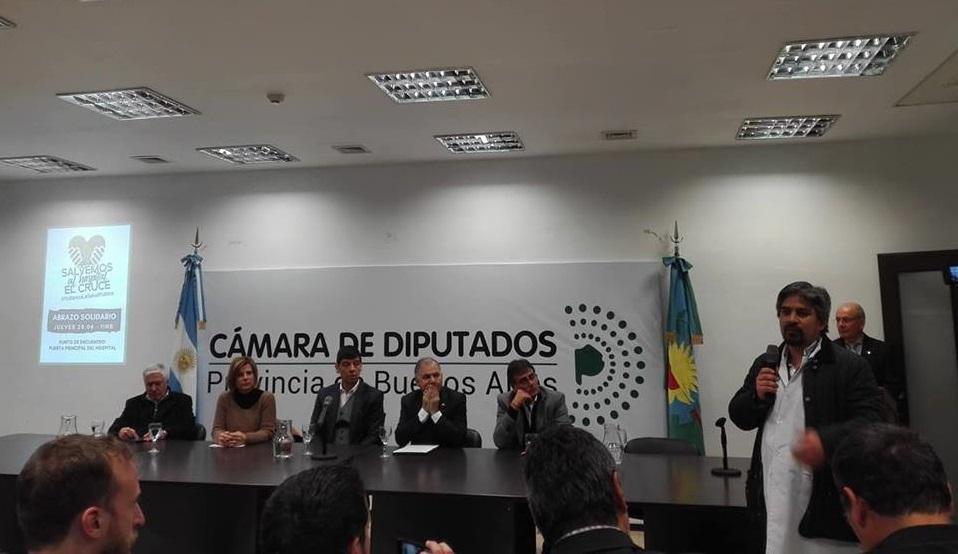 Marcelo Sosa acompaño a Julio Pereyra en la presentación de un proyecto por el Hospital El Cruce