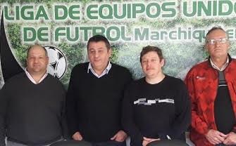 Reunión entre el municipio, el comité de la liga de fútbol y el secretario ejecutivo de A.Pre.Vi.De