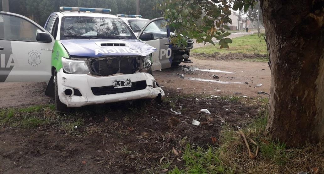 STA CLARA: Dos móviles policiales chocaron entre sí en medio de una persecución