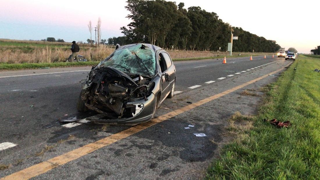 GRAL PIRAN: Fuerte accidente en la AU 2, tres piranenses heridos, uno de gravedad