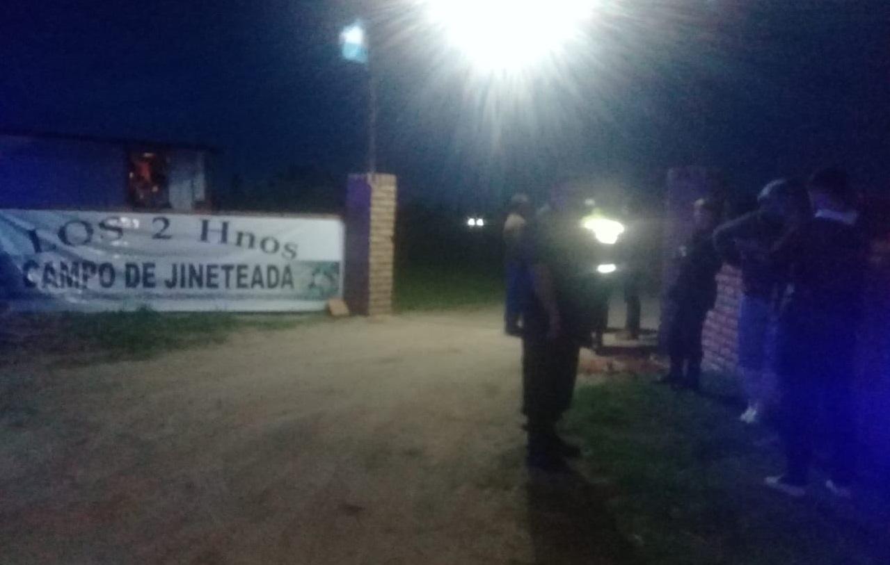 La policía intervino en una jineteada que no tenía habilitación para su realización