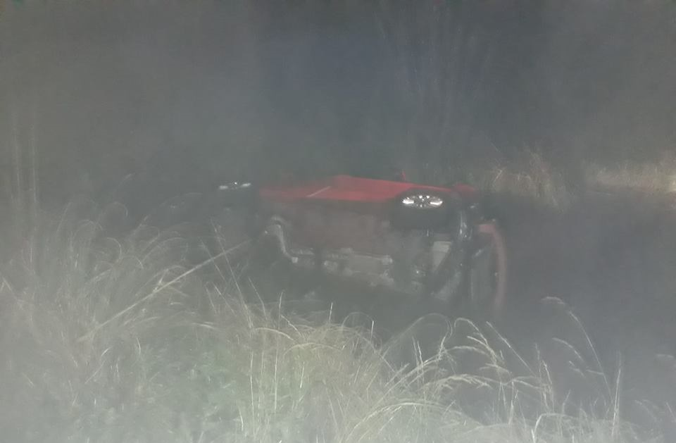 ANOCHE: Volcó un auto a la altura de Vivoratá