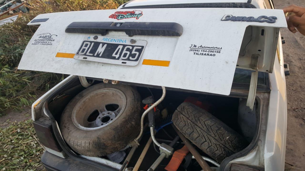 STA CLARA: Dos demorados por robar autopartes de un vehículo secuestrado
