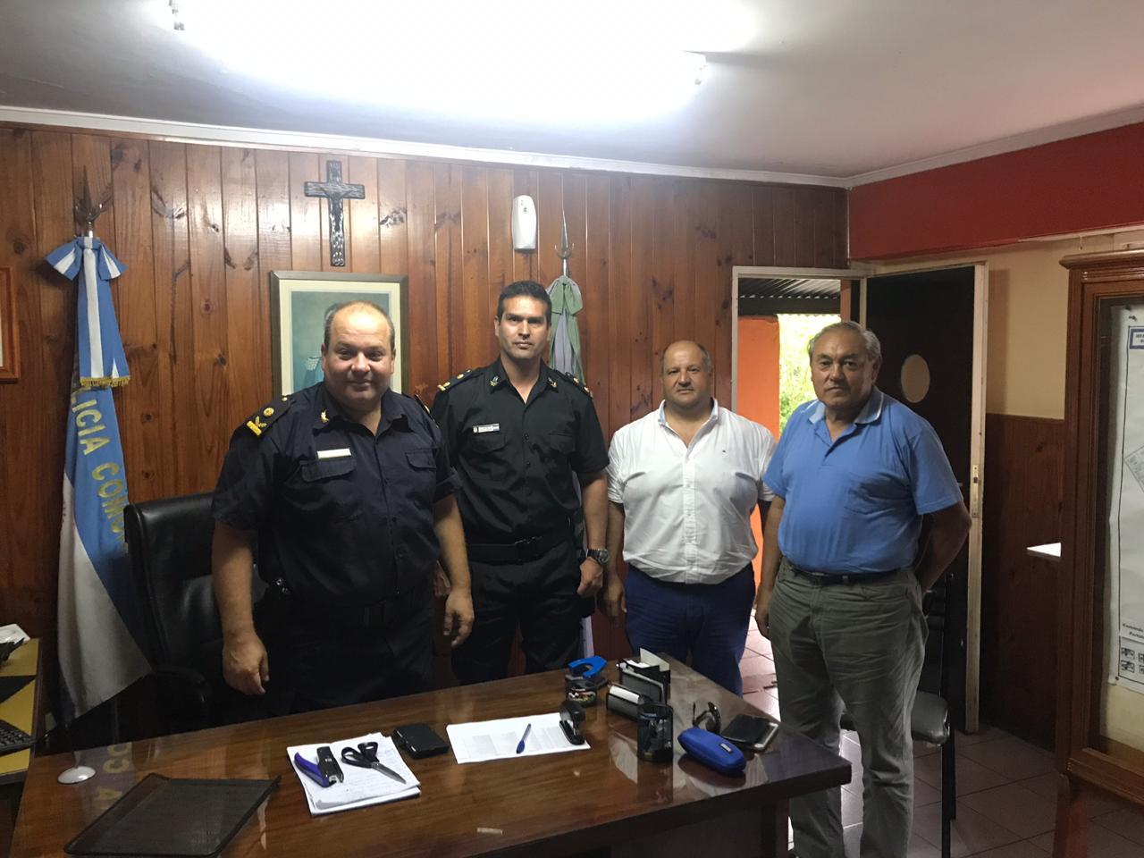 Centeneo presentó en la Comisara 1ra, al nuevo Director de Seguridad, Oscar Echeverri