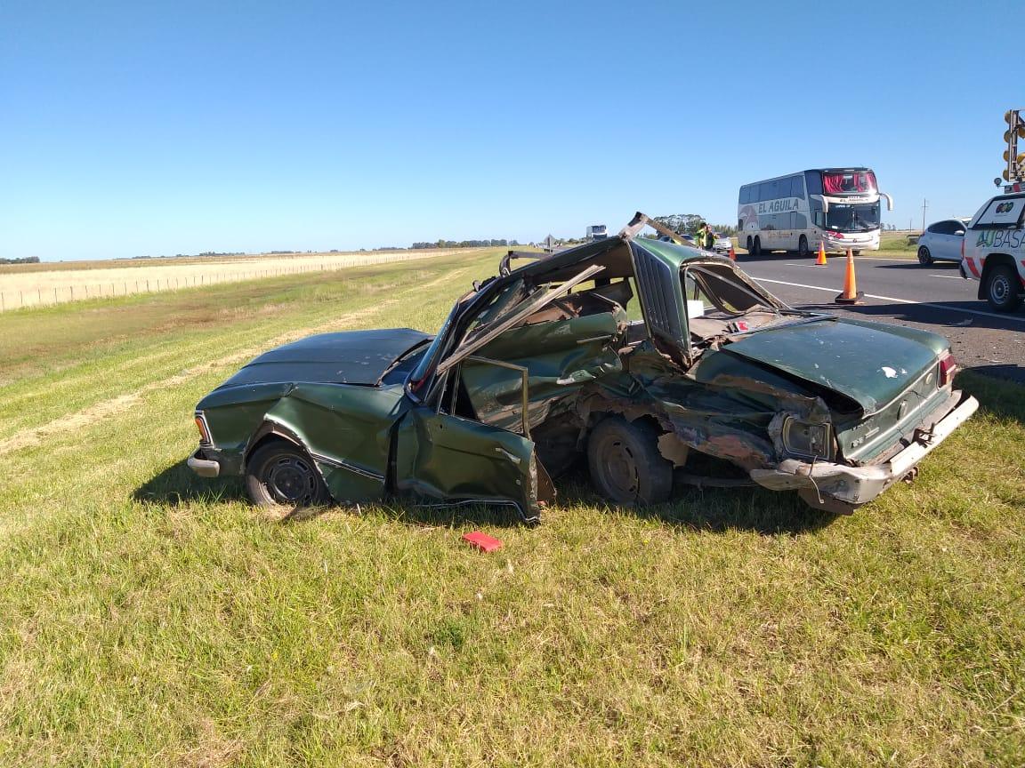 7 Heridos, entre ellos un menor, en fuerte accidente sobre la Autovia 2, cerca de Coronel Vidal