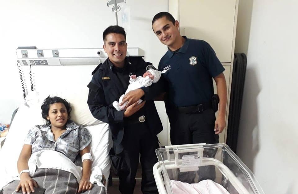 Un efectivo policial vidalense, asistió en el parto a una mujer en Mar del Plata