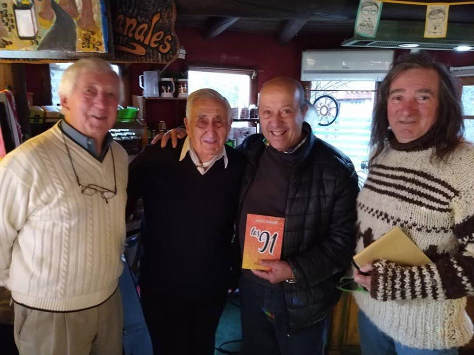 """""""Pitingo"""" Paredi participó del taller literario en la presentación del libro """"Los 91"""" de José M. Mazzilli"""