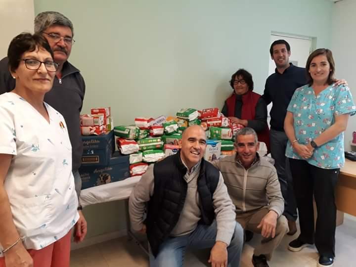 El Rotary Club de Coronel Vidal entregó los materiales donados durante la campaña solidaria