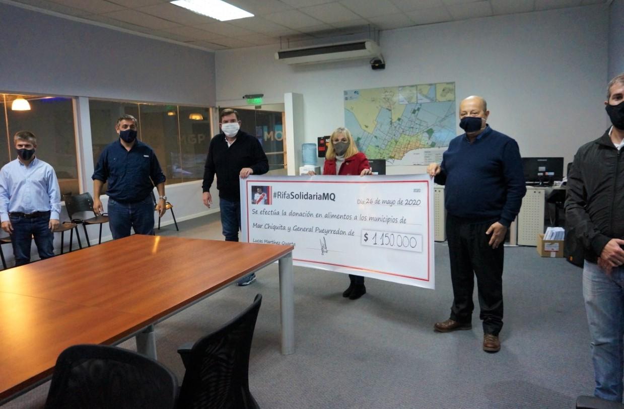 "El municipio recibió mas de medio millón de pesos de la rifa del ""Chino"" Martines Quarta"