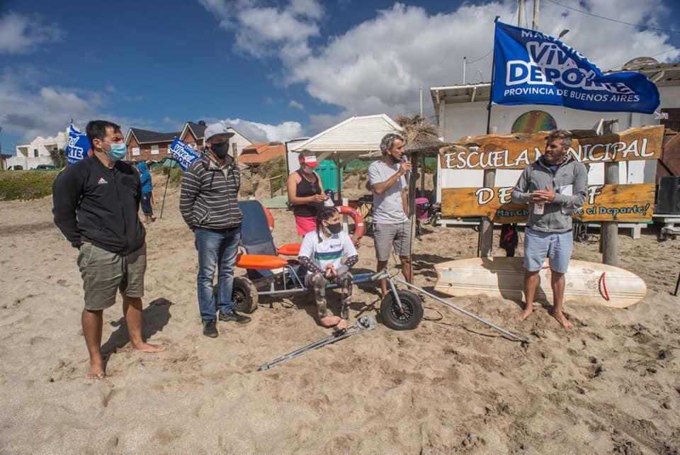 Se inauguró la primera escuela municipal de surf adaptado del país en el distrito de Mar Chiquita