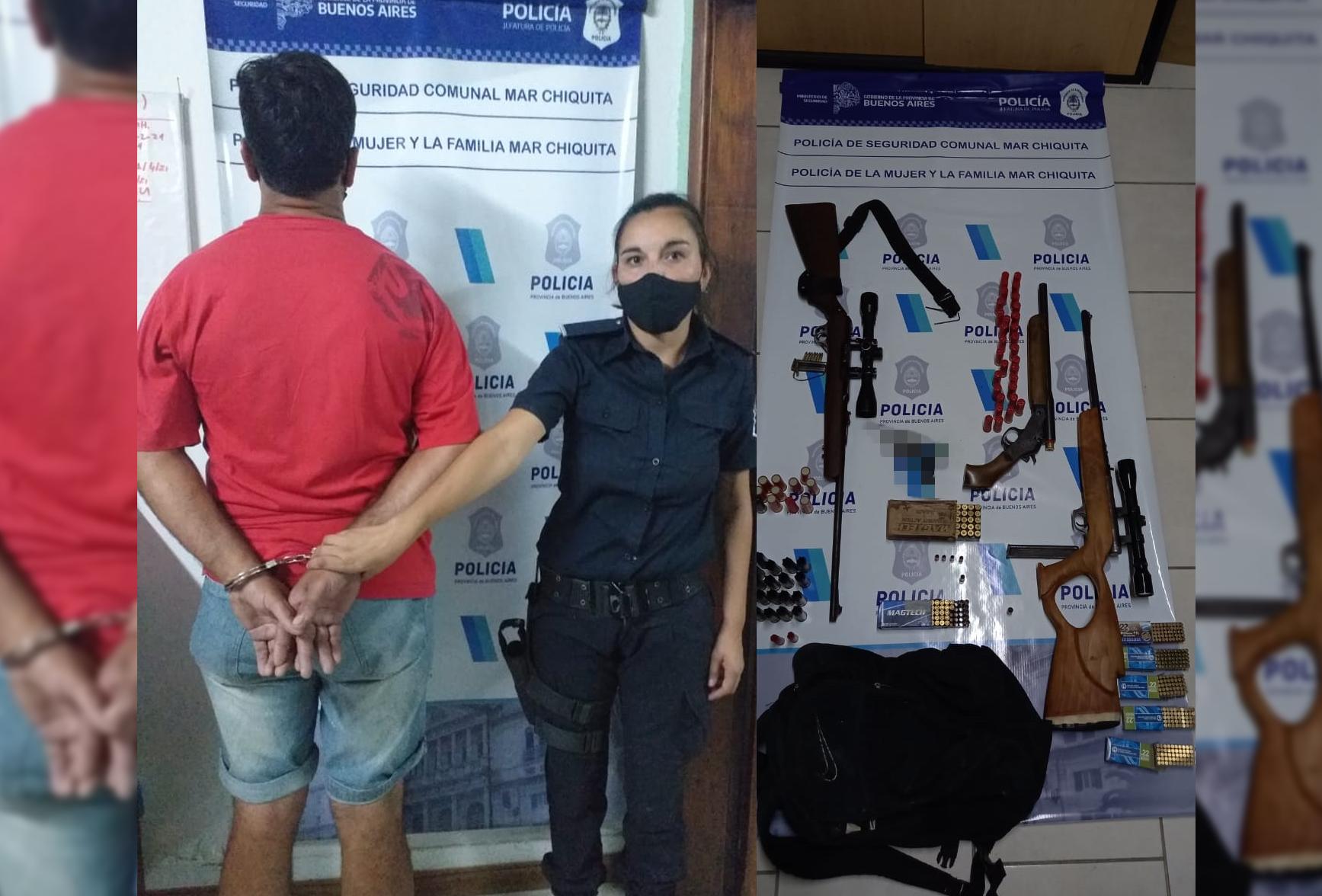 CNEL VIDAL: Un hombre amenazó a su yerno y tras un allanamiento encontraron armas en la vivienda