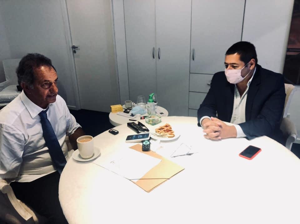 Marcelo Sosa y Daniel Scioli dialogaron sobre apertura exportadora a Brasil, que beneficia a la industria pesquera vivoratense