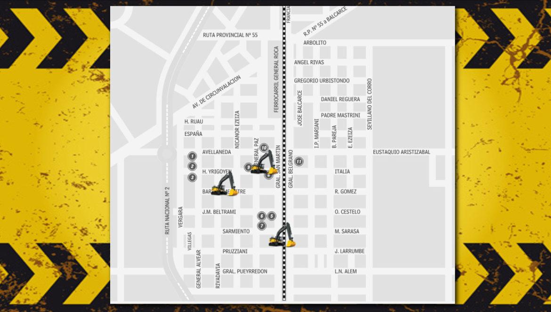 MAPA DE OBRAS: El municipio comenzó tareas de bacheo en Coronel Vidal