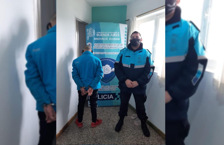VIVORATÁ: Policía vial detuvo a un sujeto que era intensamente buscado por robo agravado en Mar del Plata